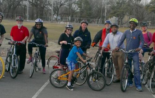 Bobby Joe Champion April bike ride